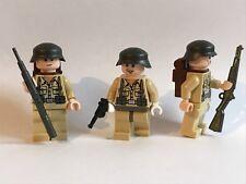 3 Ejército Alemán África Corps-utilizando Indiana Jones tema torsos Custom Arma Sombreros