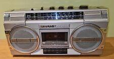 Sharp GF-4500 Ghettoblaster 4Band Stereo Radio Cassette Recorder Vintage