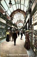 The Midland Arcade Birmingham postcard antique colour printed social history
