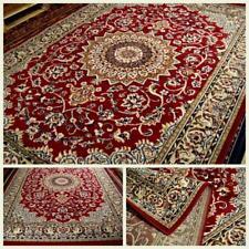 230x160 FANTASTICO TAPPETO DISEGNO PERSIANO NAIN red tabriz rug effetto lana