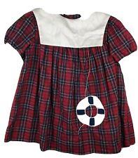 Vintage Bonnie Jean Size 5 Plaid Dress Union Made USA Schoolgirl Sailor