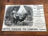 1897 large printed advert - united kingdom tea company ! ( stanley - explorer )