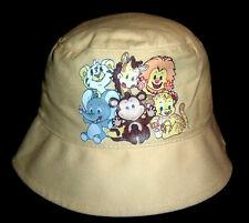 BUSCH GARDENS INFANT YELLOW BUCKET HAT ~ BABY ANIMALS ELEPHANT MONKEY+ FREE S/H
