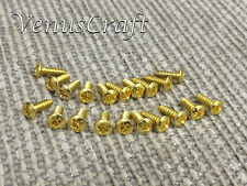 20pc high quality Guitar Pickguard Screws - Gold - 20pc for Fender Ibanez Gibson