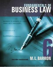 Fundamentals of Business Law by Margaret Barron (Paperback, 2008)