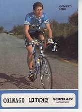 CYCLISME carte NICOLETTI DARIO équipe LAMPRE 1991 format 12 x 16,5 cm