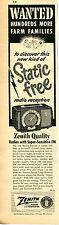 1951 Zenith Super Triumph AM-FM Farm Radio Print Ad
