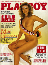 "Playboy August/08/1986   ""Miss Germany""- ANKE SYMKOWITZ*"
