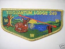 TISQUANTUM LODGE S-45 PATCH, RARE ELONGOMAT PATCH