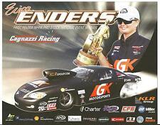 """2012 ERICA ENDERS """"1ST FEMALE PRO STOCK NATIONAL EVENT WINNER"""" POSTCARD!"""