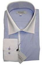Chemise ANTONIO RIZZI bleu clair HOMME manches longues T6 45 / 46  NEUF