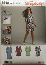 """Simplicity 8548 Misses Knit Dress with Variations """"Learn To Sew"""" Sizes: 10-22"""