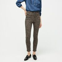"J.CREW NWT $128 Highest Rise 10"" Toothpick Jeans in Leopard Print Size 28"