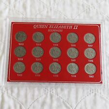 QEII SIXPENCE COLLECTION 1953 -1967
