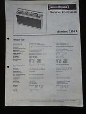 Original Service Manual nordmende dixieland 5.193a