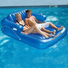 NEW Swimline Kick Back Reclining Lounger for 2 90522 Inflatable Pool Lake Float