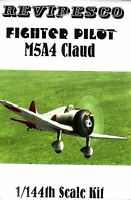 Mitsubishi A5M4 (Claud) - Japanisches Jagdflugzeug - WW 2 - 1:144 Zinnbausatz