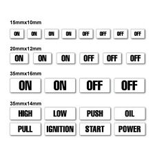 On Off Switch Button Kit Sticker Decal Car Automotive Fuel Racing #6872EN