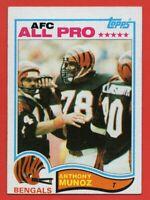 1982 Topps #51 Anthony Munoz EX-EXMINT+ Rookie RC Cincinnati Bengals FREE S/H