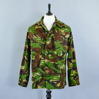 Vintage British Army Surplus Men's Camouflage Military Combat Shirt Grade 1