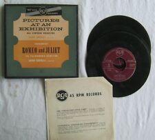 Pictures Exhibition Romeo Juliet 45rpm Box Set (4) RCA D-16397 VG+