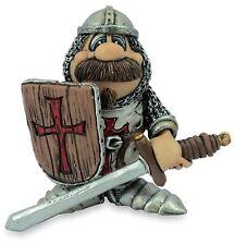 Crusader Funny Knight Templar Model Sword Shield Ornament 9cm