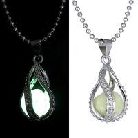 Gilrls Women Fashion The Little Mermaid's Teardrop Glow in Dark Pendant Necklace