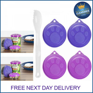 Dog Cat Pet Food Tin Cover Plastic Lids Can Caps Fresh Top Covers Storage