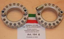 Honda CB175 CB200 Cappellini #164A pair alloy racing exhaust cooling rings -54mm