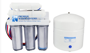 Premier Reverse Osmosis Water Filtration System 50 GPD 5 Stage Clear Housing USA