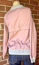 Vintage 1960's THE WOOLRICH WOMAN Quarter Zip Shell Windbreaker Jacket Pink M