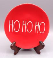 "Rae Dunn Christmas Magenta HO HO HO Small Red Bread Butter Plate 6"" Artisan"