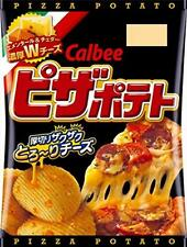 Calbee Pizza poteto Double cheese 63g x 12 bags From Japan