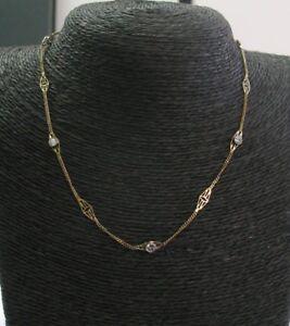 Fine Round Cut Diamond Yellow Gold Diamond By The Yard Necklace .75Ct 14Kt