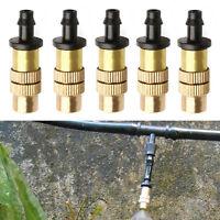10X Adjustable Misting Nozzle Gardening Water Cooling Brass Spray Sprinkle.UK