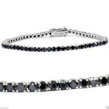 """Round Cut D/vvs1 Diamond 7"""" Tennis Bracelet in 14k White Gold Over"""