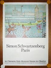 Plakat Ausstellung Simon Schwartzenberg Clemens-Sels-Museum Neuss, 1973 Poster
