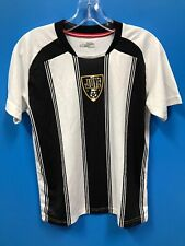 NEW Xara 100% Polyester Youth Striped Soccer Jersey Color White Black Size YL