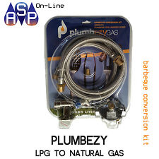 PlumbEzyGas BBQ NATURAL GAS CONVERSION KIT WITH BAYONET FLOOR/WALL SOCKET