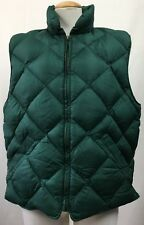 Eddie Bauer Womens Puffer Vest Green Goose Down Filled Quilted Zip Size Large
