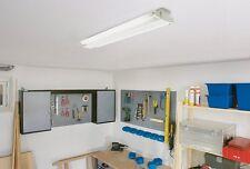 Freistrahlende Lichtleiste 2-flammig 2x 36W T8 Neonröhre Neonlampe Anbauleuchte