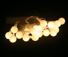 Battery Powered Warm White Berry Balls LED Fairy Lights 2M 20LED: ON+Flash Modes