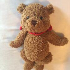 Gund Stuffed Brown Sugar Bear Plush 1484 wearing Red Velvet Hearts Tie, Euc, A+