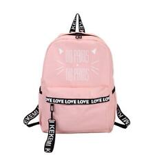 Cat Letter Printing Backpacks Pink School Bags For Teen Girls Students Rucksacks