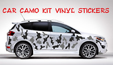 FULL CAR CAMO KIT  STICKERS CAMOUFLAGE ANY 2 COLOURS  VINYL WRAP DECALS