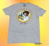 New Bob Ross Mens Happy Trees Rustic Classic Vintage T-Shirt