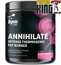 BPM LABS ANNIHILATE RAINBOW SHERBET 50 SERVES INTENSE THERMOGENIC FAT BURNER OXY