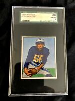 1950 BOWMAN JACK ZILLY SGC GRADED 8 #8166721014 LOS ANGELES RAMS #124