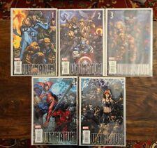 Ultimatum #1-5 1 2 3 4 5 Nm Marvel Comics 2009 Complete Set Lot Finch