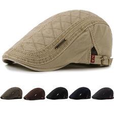 Mens Women Cotton Gatsby Cap Golf Driving Sun Flat Cabbie Beret Newsboy Ivy Hat